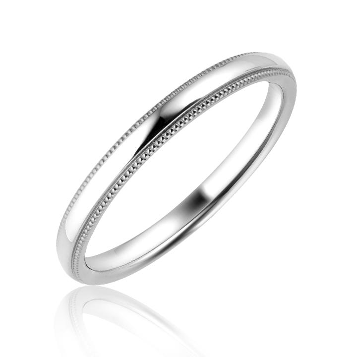 Обручальное кольцо из белого золота купить