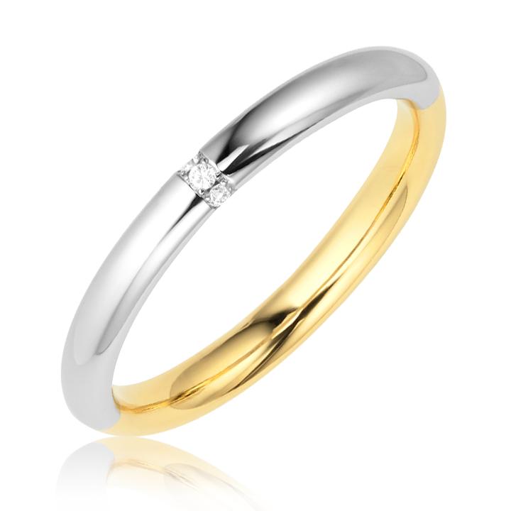 Обручальное кольцо с цирконием Marriage
