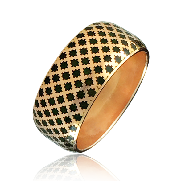 Золотое обручальное кольцо «Aida-II»