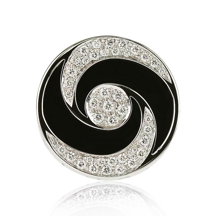 Золотое кольцо с цирконием и ониксом «Bulgaria»