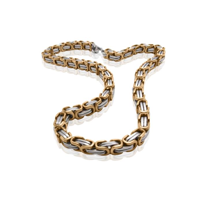 Золотий чоловічий браслет «Goffredo»