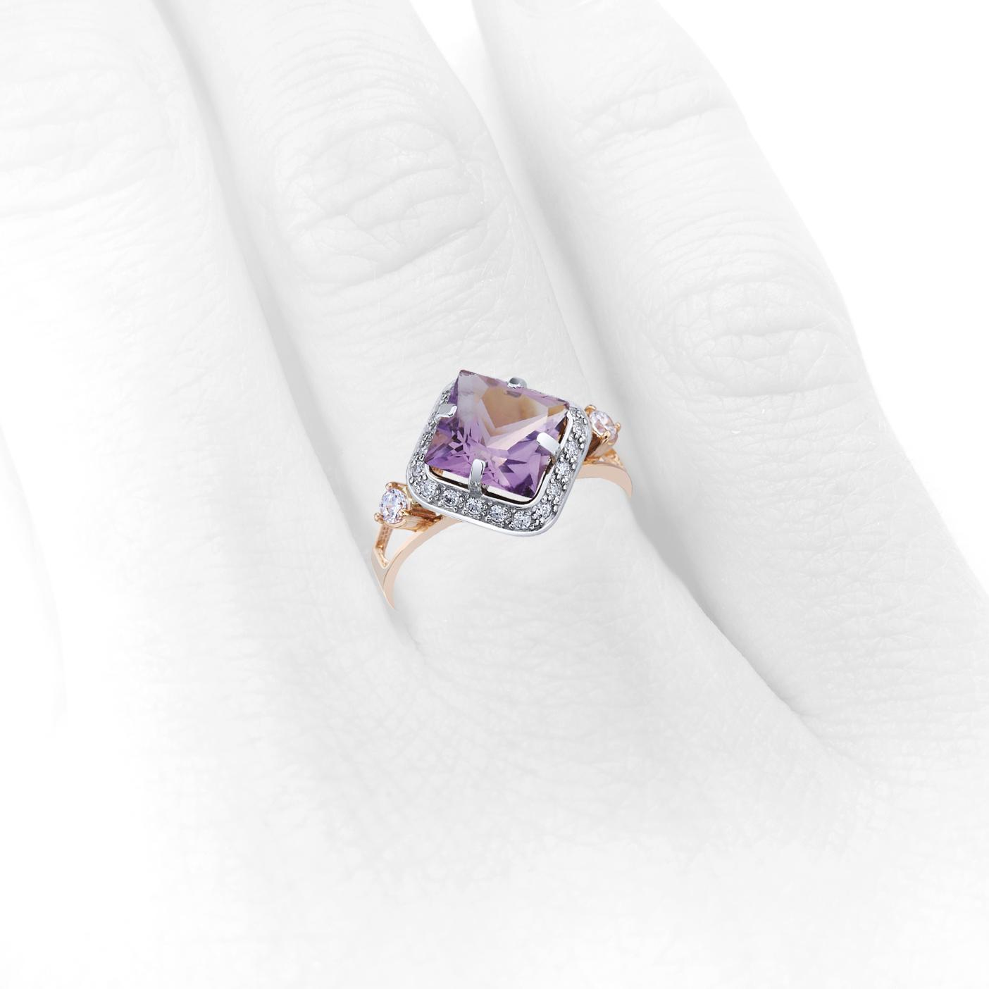 Золотое кольцо с аметистом «Revelación»