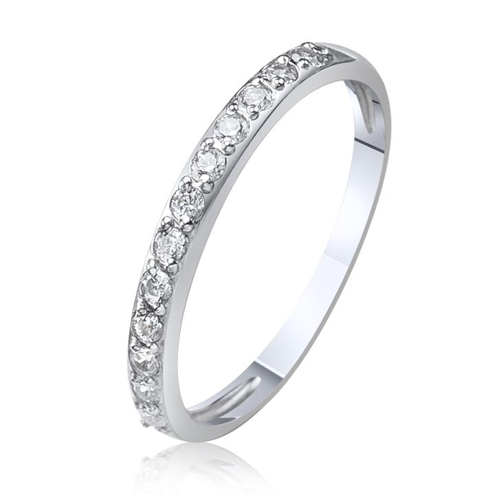 Золота обручка-доріжка з діамантами «Cristal»