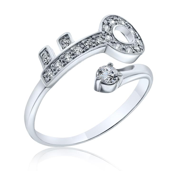 Золотое кольцо в виде ключа