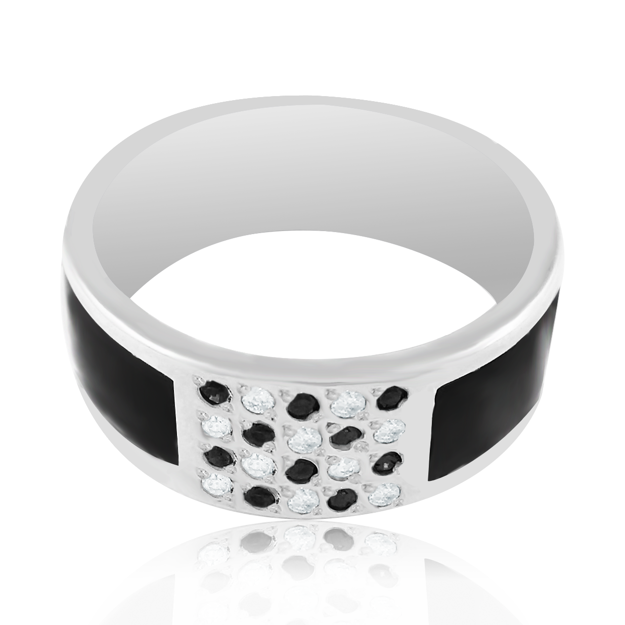 Перстень с мужской белое золото