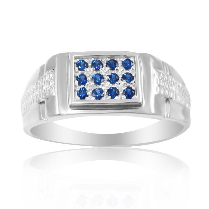 Купити чоловічий перстень з сапфіром