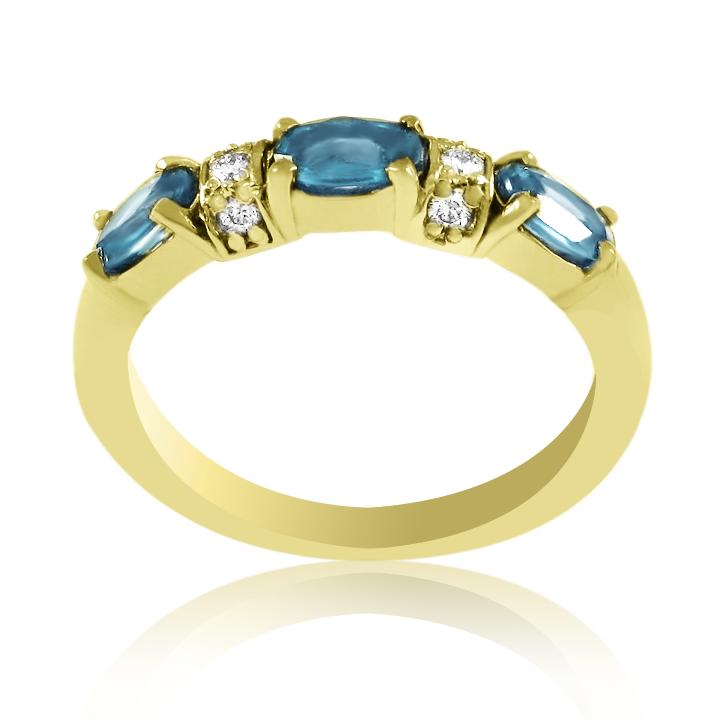 Топаз кольцо из золота