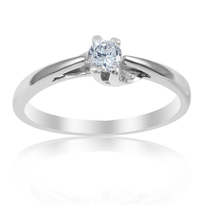 Кільце із золота з діамантом «Delight»