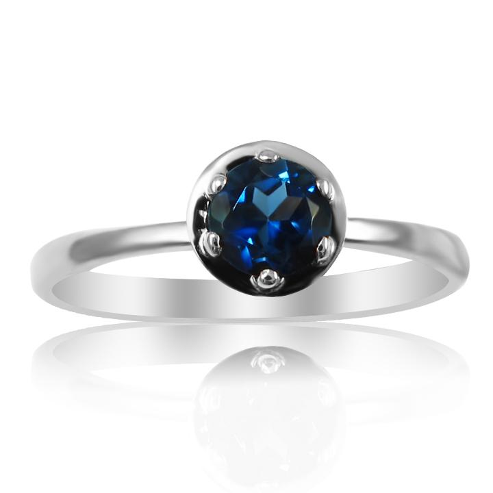 Золотое кольцо с топазом Лондон «Gold Brand»