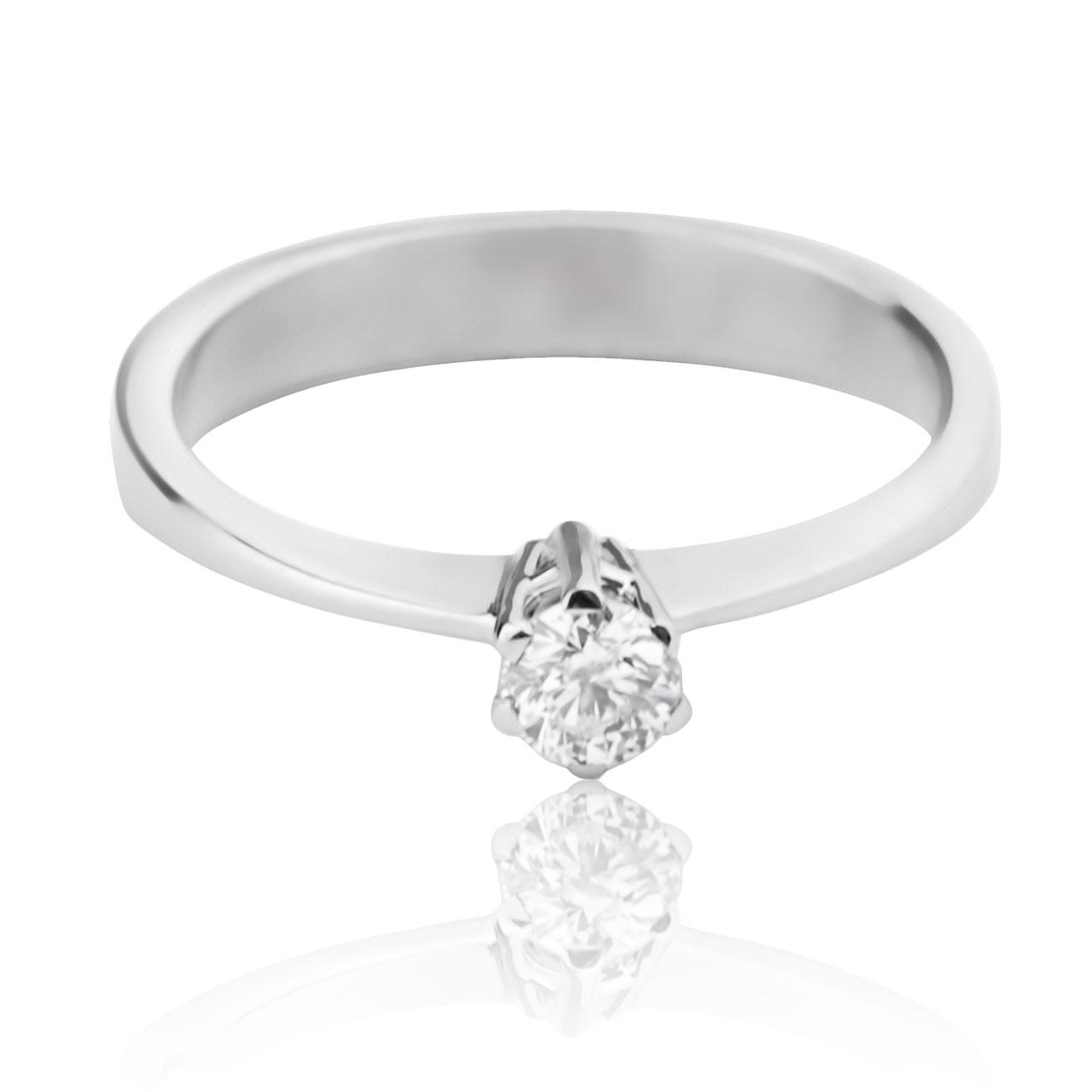 Золота каблучка на заручини з діамантом
