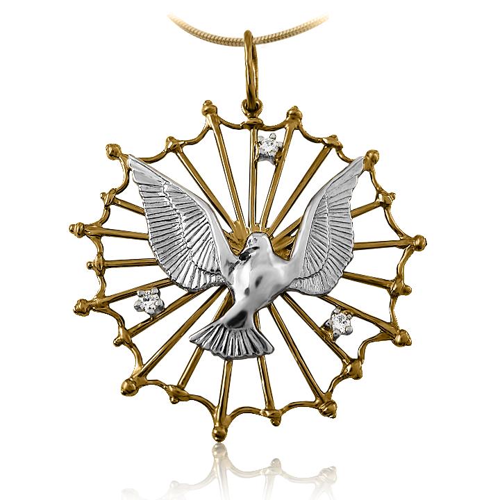 Золотой кулон «Символ мира»