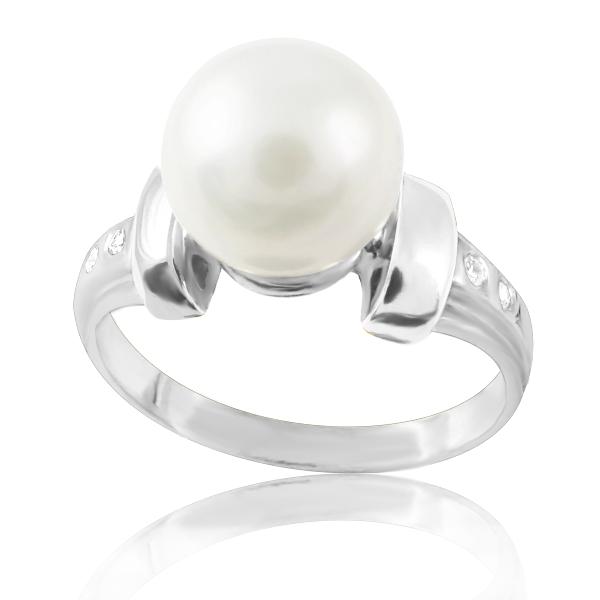 Золотое кольцо с жемчугом «Аликанте»