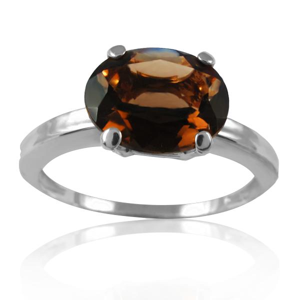 Золотое кольцо с раухтопазом «Плиния»
