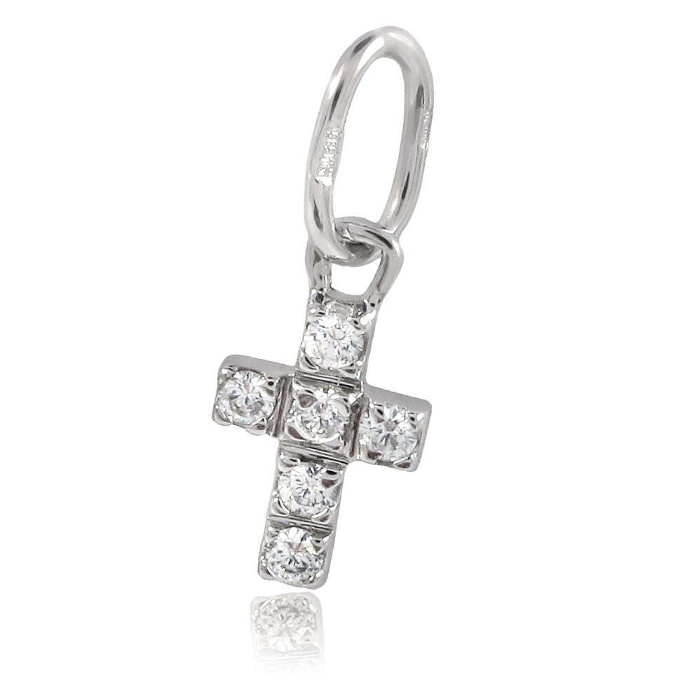Золотой крестик «Крохотный ангел»
