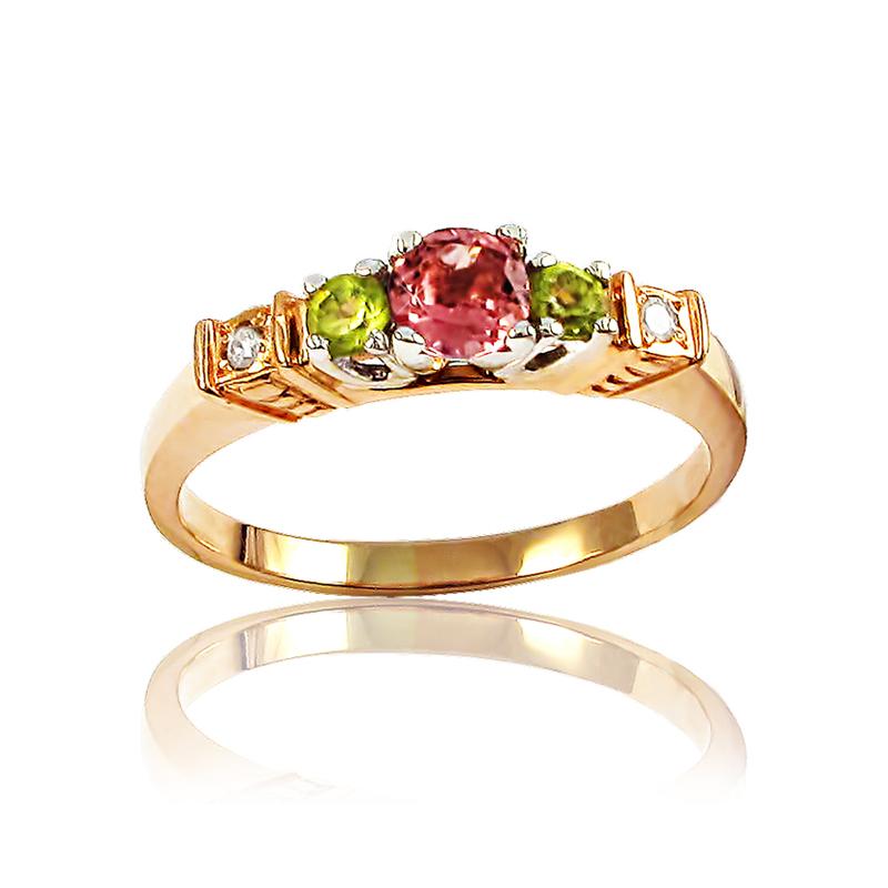 Золотое кольцо с драгоценными камнями «Silence»