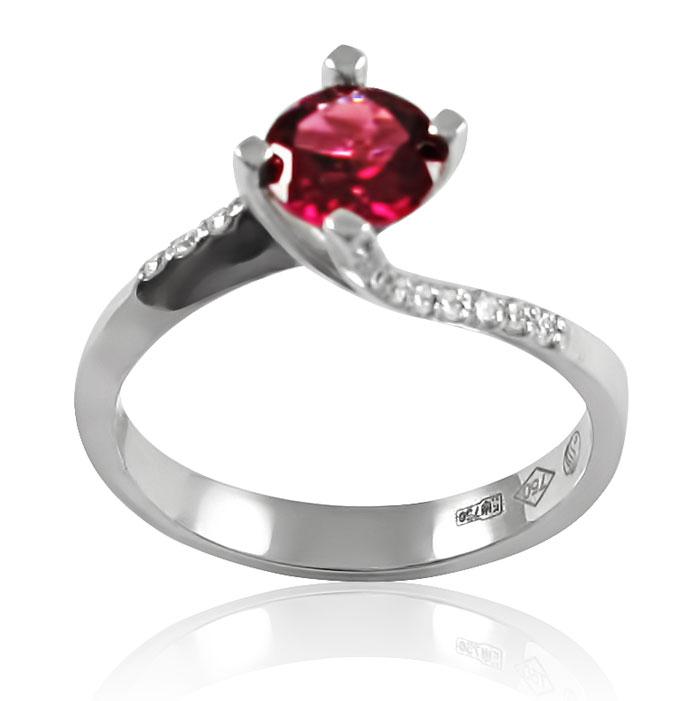 Золотое кольцо с родолитом «Моей королеве»