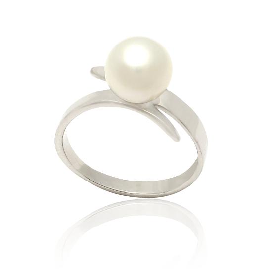 Золотое кольцо с жемчугом «Дорогая Элли»