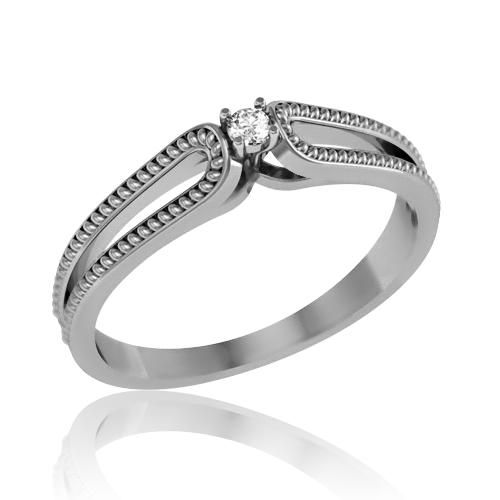 Золотое кольцо с бриллиантом «Edissa»