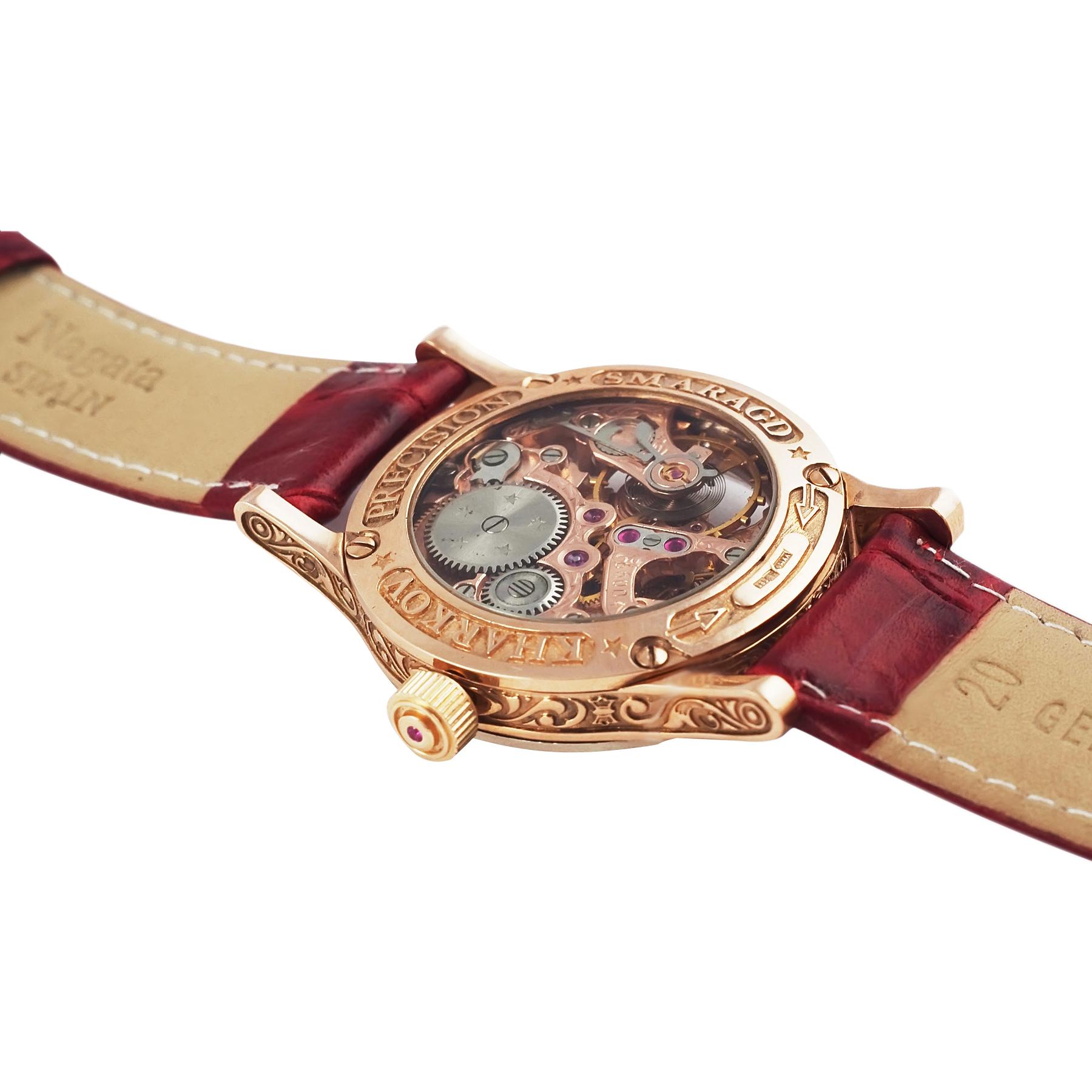 Золотые часы «Lady Skeleton»
