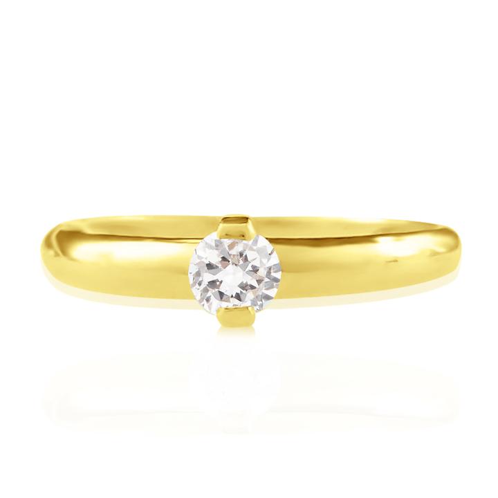 Золотое кольцо на помолвку сваровски