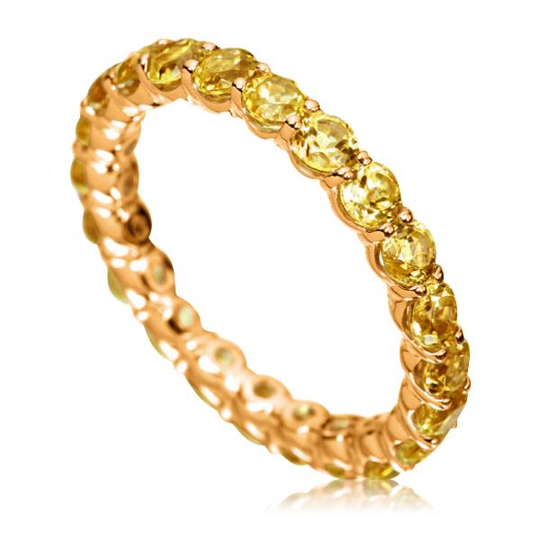 Золота каблучка з цитринами «Marmalade»