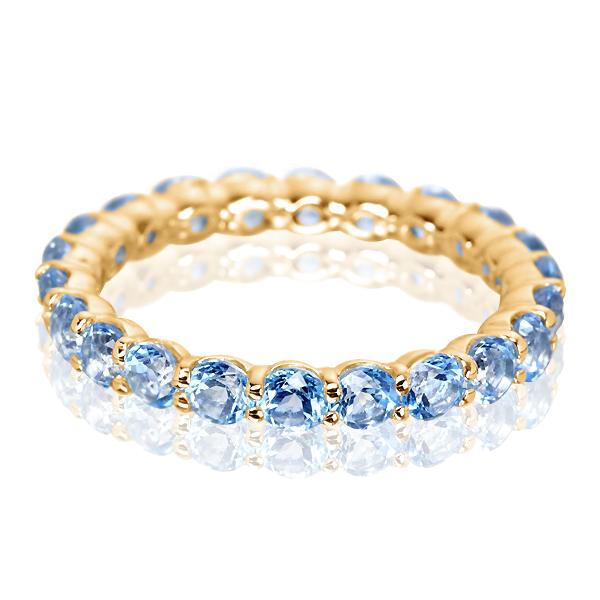 Золотое кольцо с топазами «Marmalade»