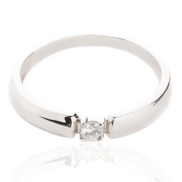 Золоте кольцо для заручин з діамантом «Пропозиція»