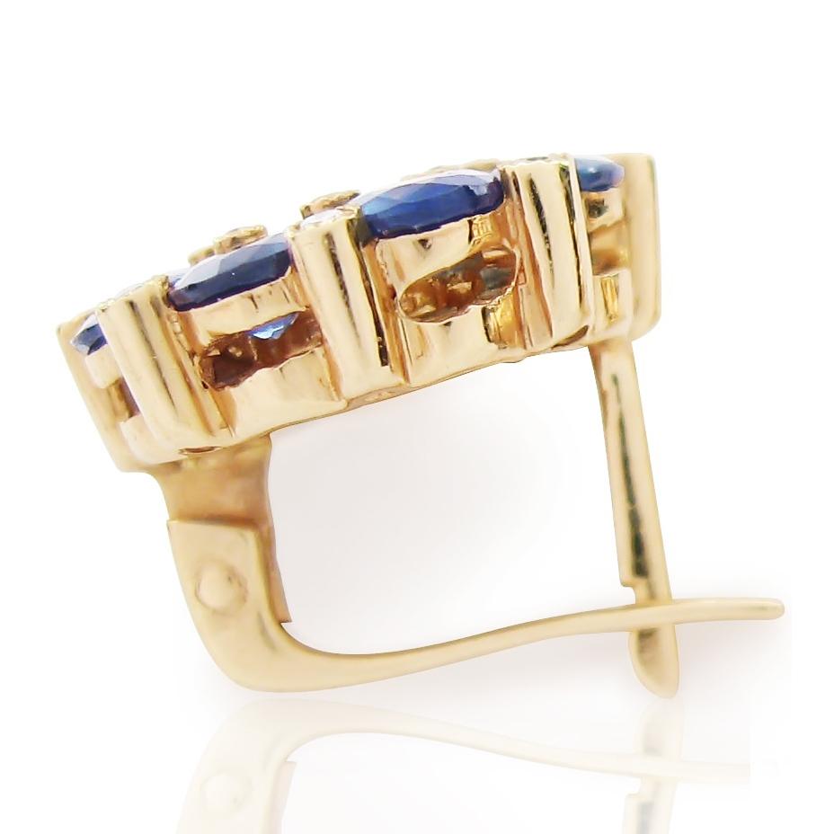 Золоті сережки з сапфіром «Принцеса»