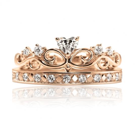Золотое кольцо кубический цирконий