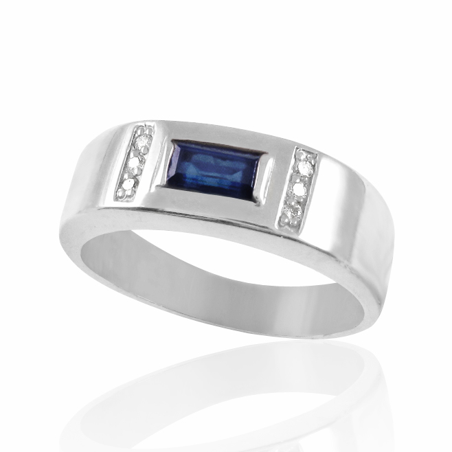 Золотий перстень сапфір