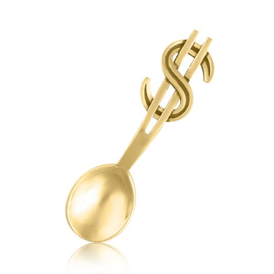 Золотой сувенир ложка загребушка