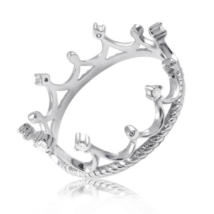Кольцо-корона цирконий