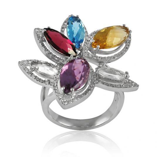 Золотое кольцо камни