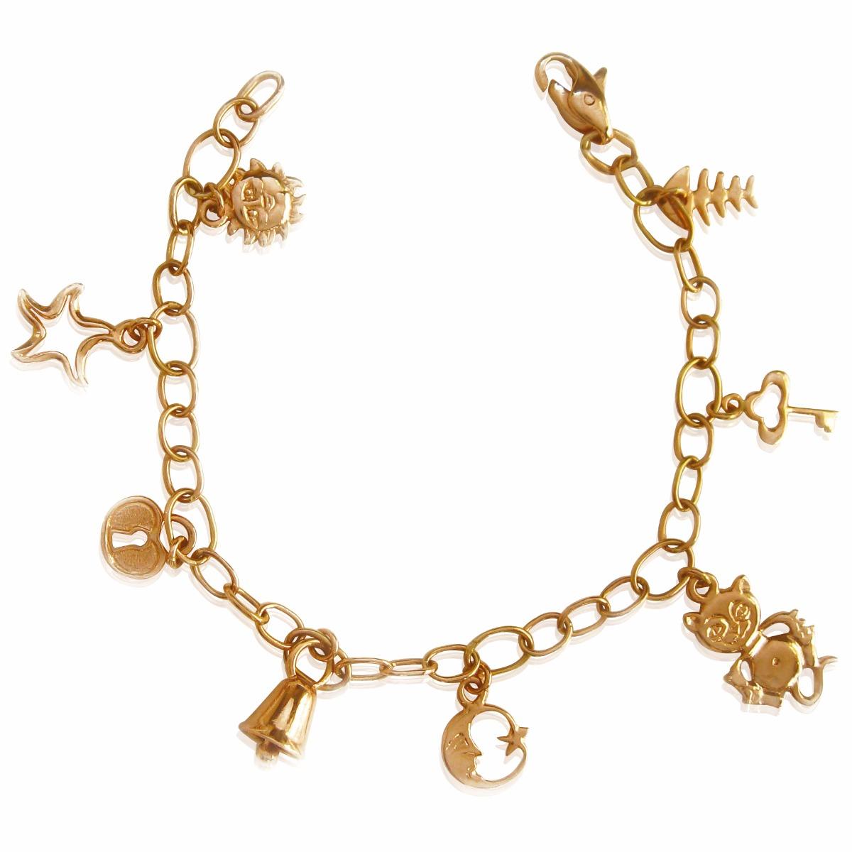 Золотий браслет з підвісками