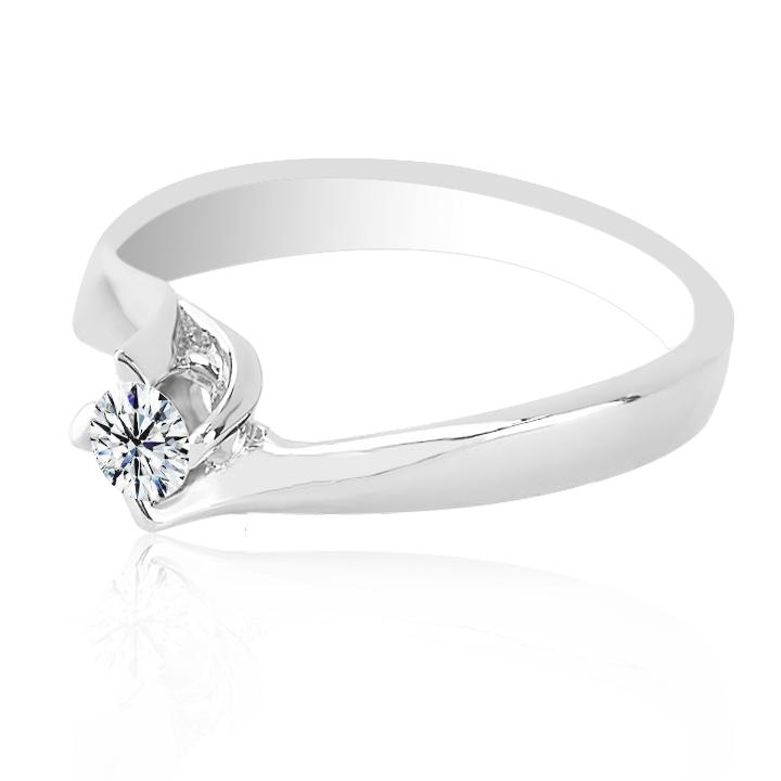 Золота каблучка на заручини з діамантом «Франческа»