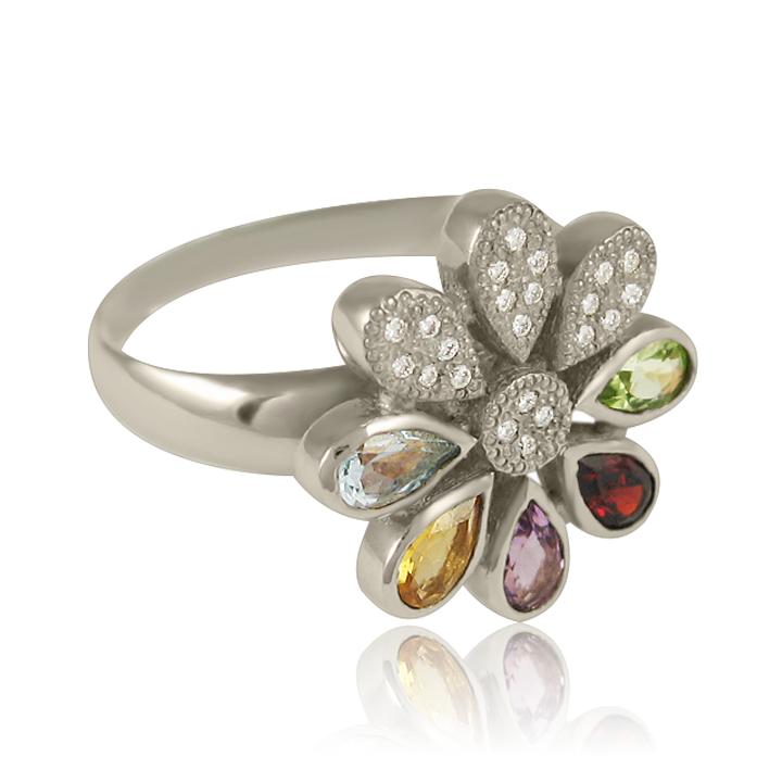 Эксклюзивное кольцо из белого золота