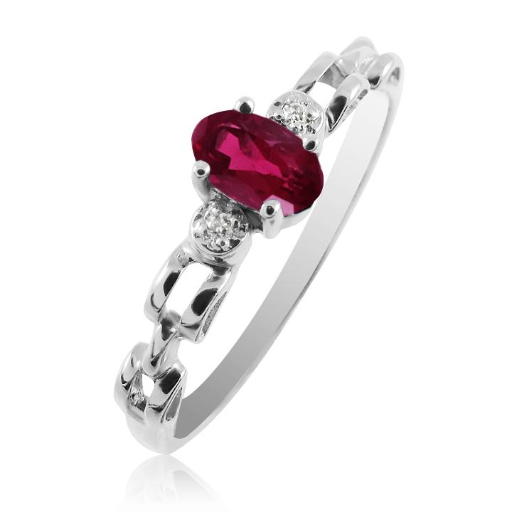 Золотое кольцо с рубином и бриллиантами «Vita»