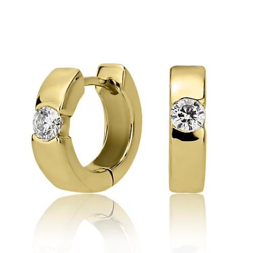 Золотые серьги с цирконием «Cipriano»