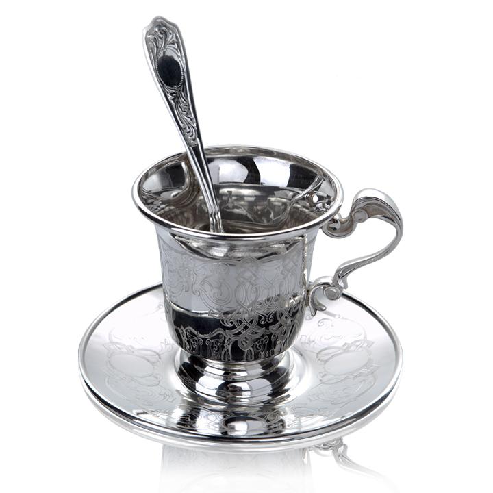 Эксклюзивный серебряный сервиз чайный на 6 персон «Лондон»