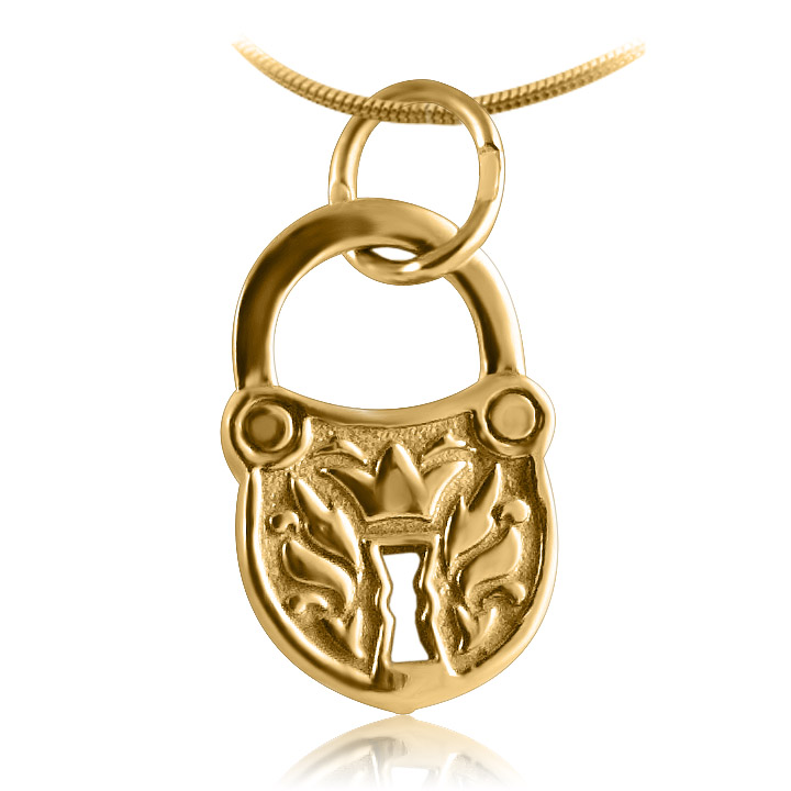 Женский кулон «Золотой замочек»
