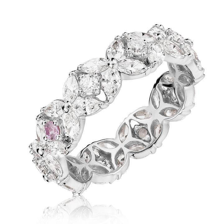 Эксклюзивное золотое кольцо «Zlato» с камнями Сваровски