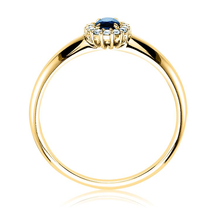 Кольцо на помолвку сапфир цирконий