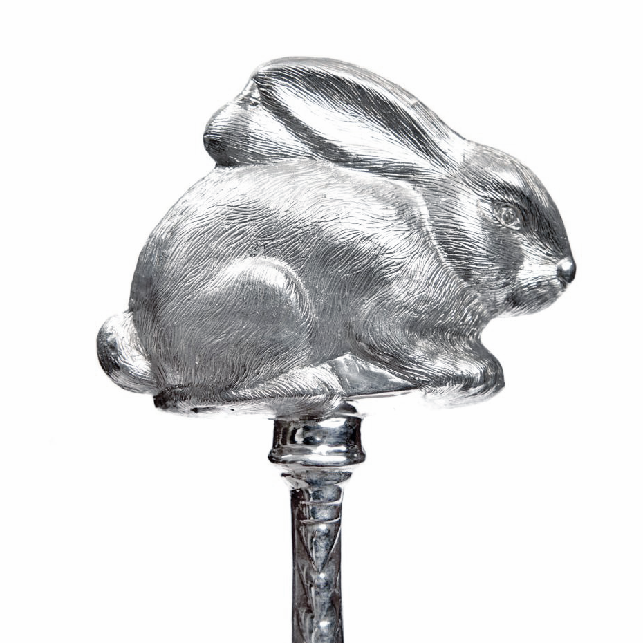 Серебряная погремушка «Кролик»