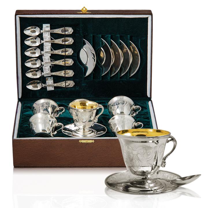 Серебряный набор «Кофейный»