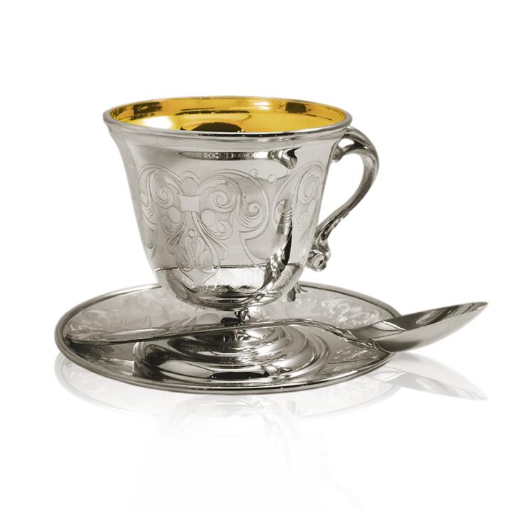 Елітний срібний набір «Кавовий»