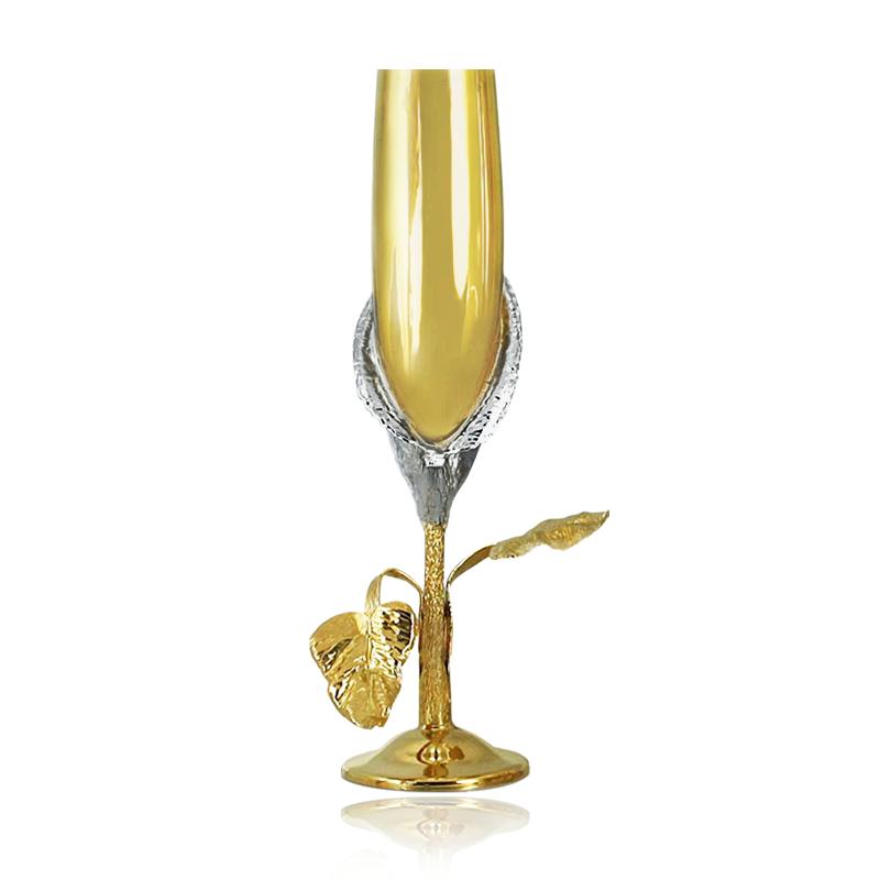 Набор серебряных бокалов с позолотой «Признание»