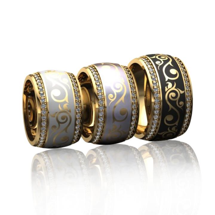 Эксклюзивное кольцо с эмалью «Бьюти»
