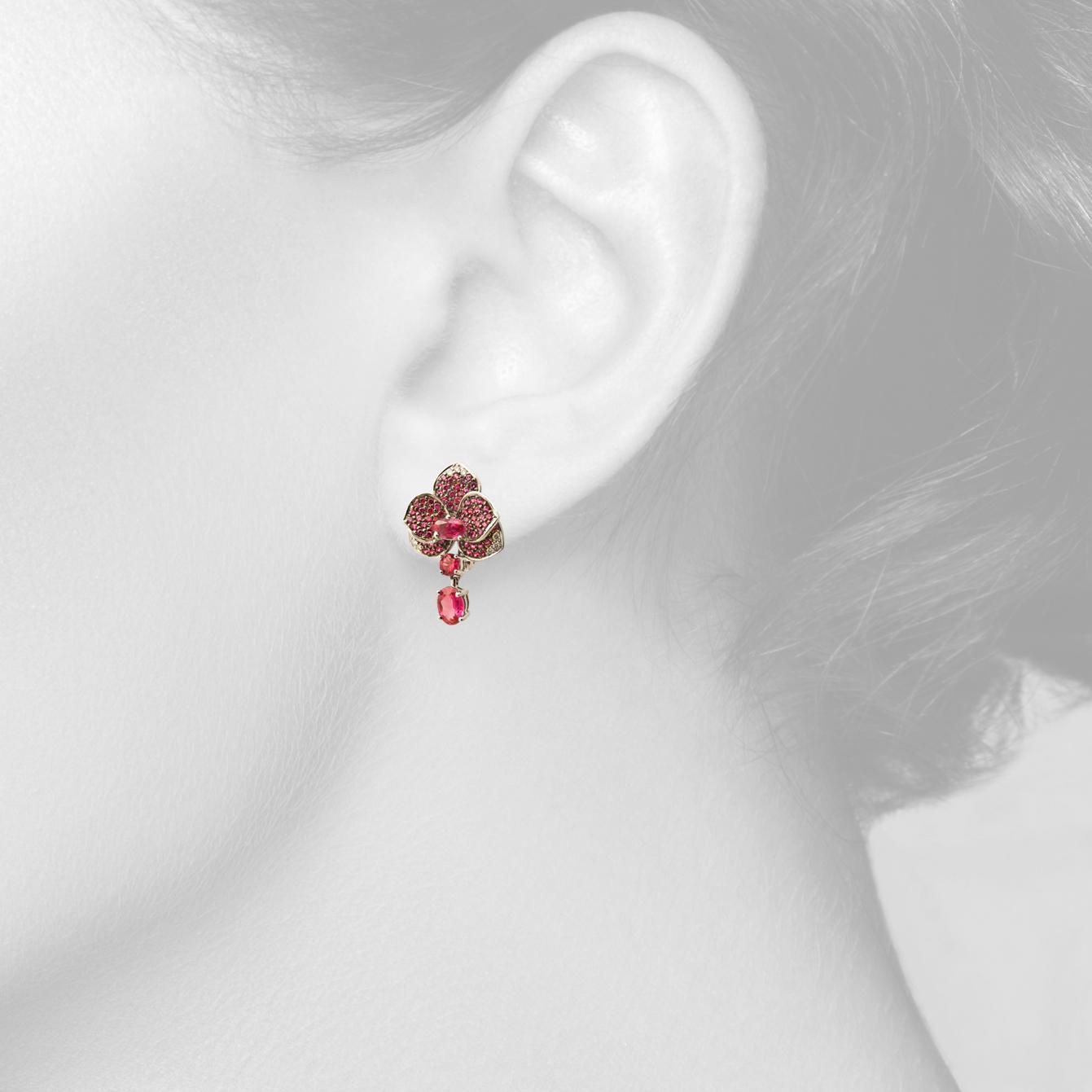 Ексклюзивні сережки з рубінами «Scarlet Rose»