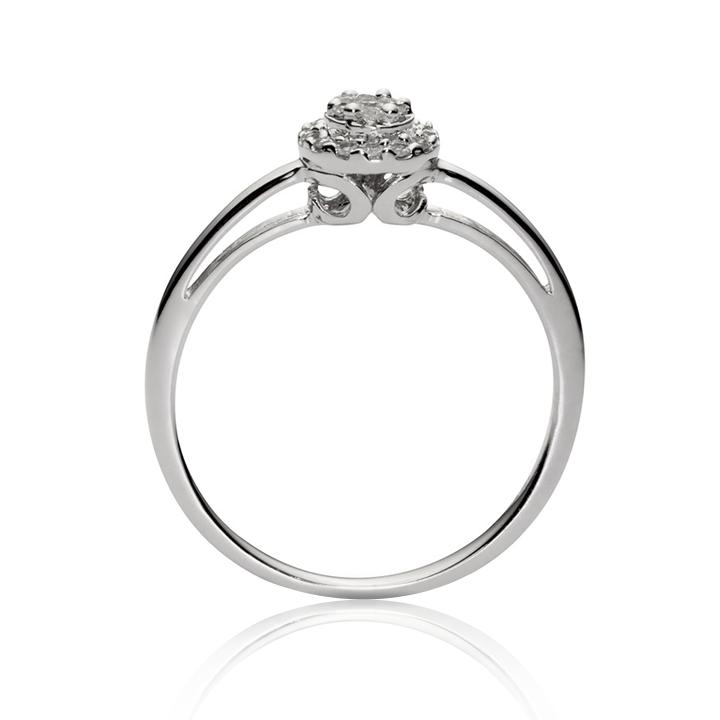 Золотое кольцо с бриллиантами «Fortunata»