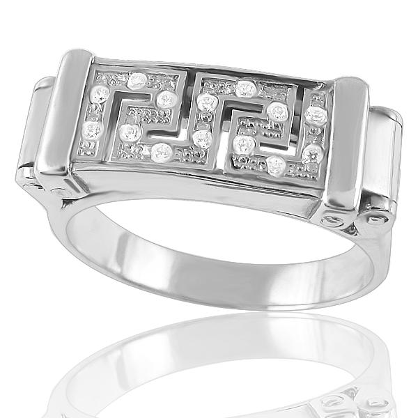 Золотое кольцо с цирконием «Ты и Я»